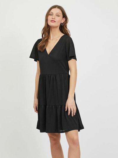 VILA Robe 'Natalie' en noir, Vue avec modèle