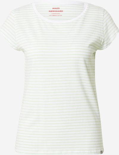 MADS NORGAARD COPENHAGEN T-shirt en vert clair / blanc, Vue avec produit