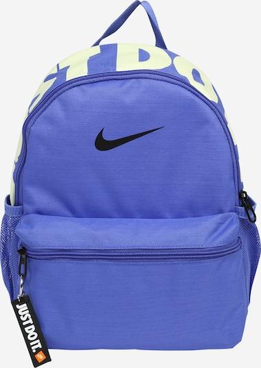 Nike Sportswear Ryggsäck 'Brasilia' i indigo / neongul / svart, Produktvy