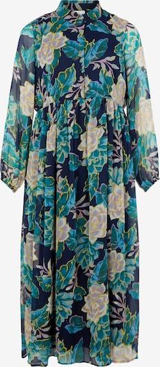 Vila Curve Robe-chemise 'Erica' en bleu clair / bleu foncé / jaune / vert / rose clair, Vue avec produit