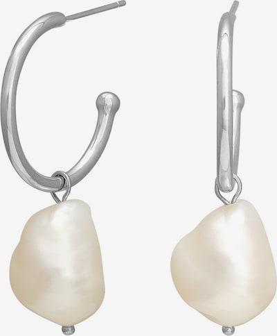 Nordahl Jewellery Boucles d'oreilles en argent / blanc perle, Vue avec produit