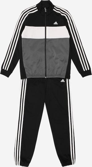 Treniruočių kostiumas iš ADIDAS ORIGINALS, spalva – pilka / juoda / balta, Prekių apžvalga