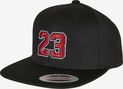 Mister Tee Cap in rot / schwarz, Produktansicht