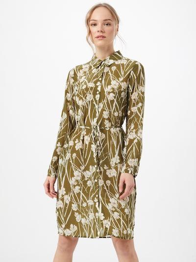 OBJECT Kleid 'AMENA' in grün / weiß, Modelansicht
