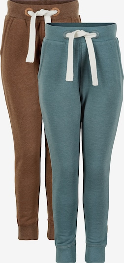 MINYMO Pants in Smoke blue / Brown / White, Item view