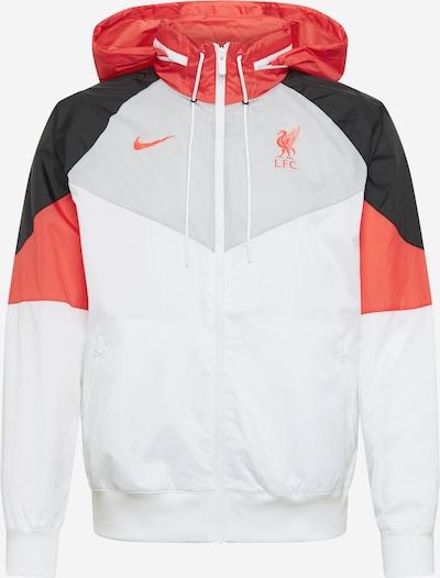 NIKE Спортно яке 'LFC' в светлосиво / червено / черно / бяло, Преглед на продукта