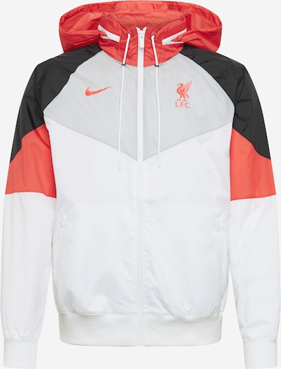 NIKE Športová bunda 'LFC' - svetlosivá / červená / čierna / biela, Produkt