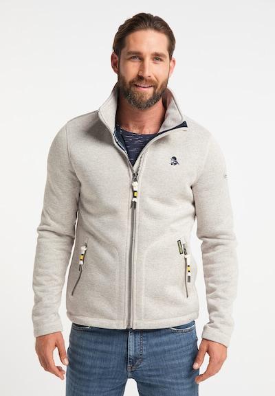 Schmuddelwedda Fleece jas in de kleur Taupe: Vooraanzicht