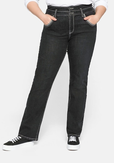 SHEEGO Jeans in de kleur Black denim, Modelweergave