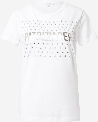 PATRIZIA PEPE Majica | srebrna / bela barva, Prikaz izdelka