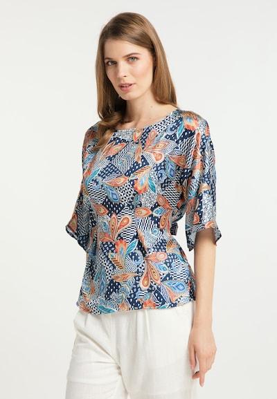 Bluză Usha pe albastru / culori mixte, Vizualizare model