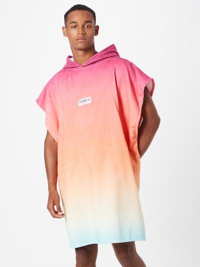 PARI Peignoir long 'SWIM CLUB' en aqua / jaune / rose, Vue avec modèle