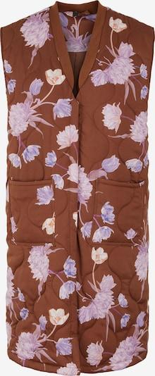 Y.A.S Väst 'Camilla' i brun / lila / blandade färger: Sedd framifrån