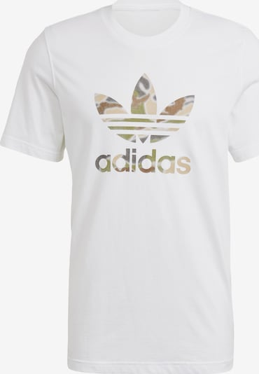 ADIDAS ORIGINALS T-Shirt in gold / weiß, Produktansicht