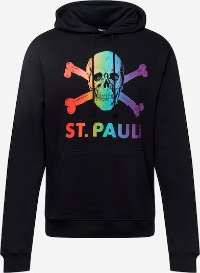 FC St. Pauli Sweater majica 'Regenbogen' u miks boja / crna, Pregled proizvoda