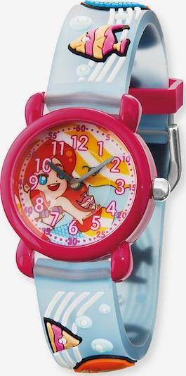 Engelsrufer Uhr in hellblau / rot, Produktansicht