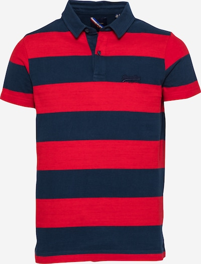 Superdry Poloshirt in navy / feuerrot, Produktansicht