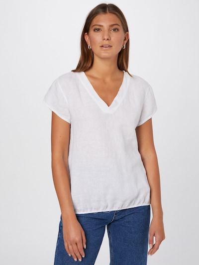 Cartoon Bluse in weiß, Modelansicht