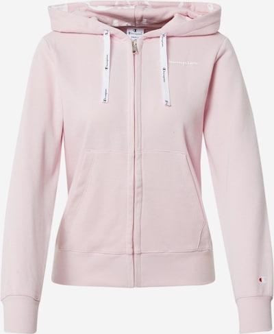 Champion Authentic Athletic Apparel Veste de survêtement en rose / rouge / blanc, Vue avec produit