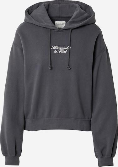 Abercrombie & Fitch Sweat-shirt en gris foncé / blanc, Vue avec produit