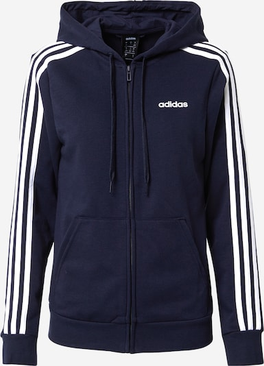 ADIDAS PERFORMANCE Sweatjacke 'Essentials Linear' in dunkelblau: Frontalansicht