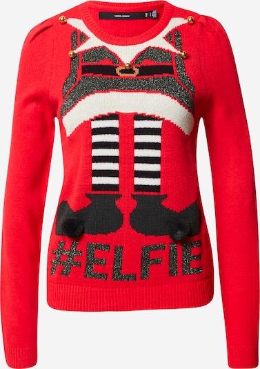 VERO MODA Trui 'New Elfie' in de kleur Rood, Productweergave