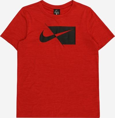 NIKE Funktionsshirt in rotmeliert / schwarz: Frontalansicht