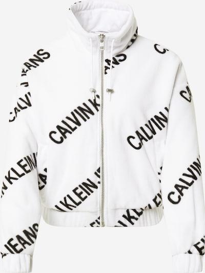 Calvin Klein Jeans Fleecetakki värissä musta / valkoinen, Tuotenäkymä