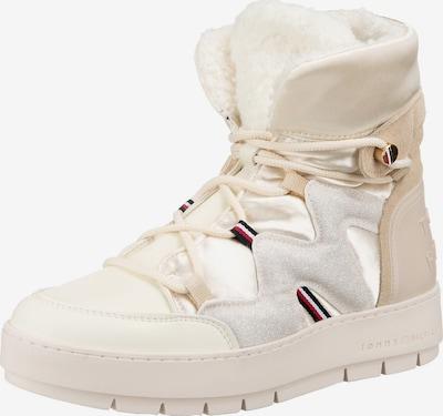 TOMMY HILFIGER Snowboots in creme / hellbeige / dunkelblau / hellgrau / rot, Produktansicht