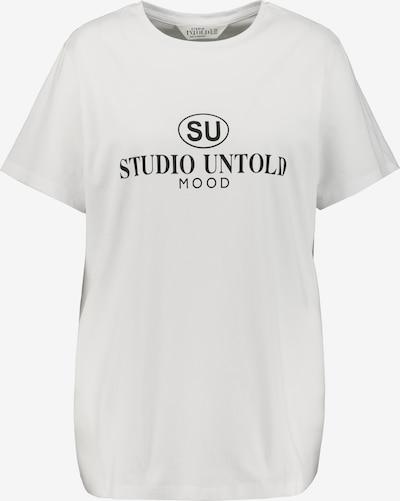 Tricou Studio Untold pe negru / alb, Vizualizare produs