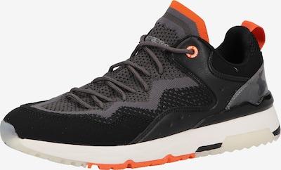 Dockers by Gerli Sneaker in dunkelgrau / orange / schwarz, Produktansicht