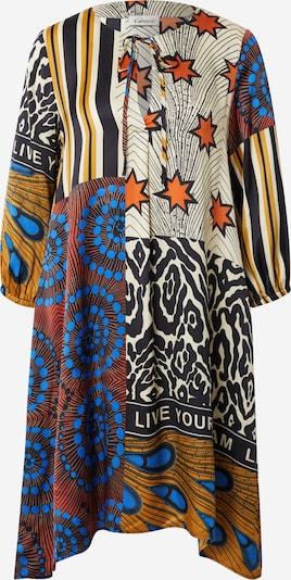Grace Kleid in beige / himmelblau / gelb / orange / schwarz, Produktansicht