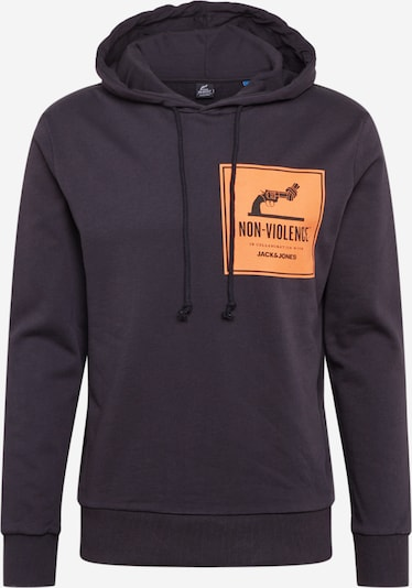 JACK & JONES Sweatshirt 'NONVIOLENCE' in orange / schwarz, Produktansicht