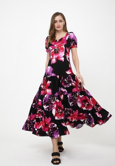 Madam-T Kleid 'Saratana' in lila / fuchsia / schwarz, Modelansicht