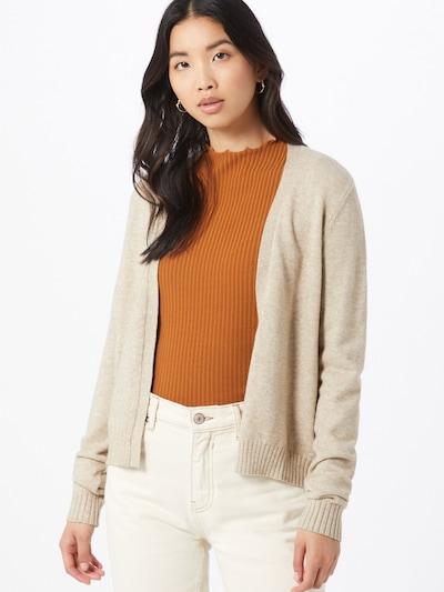 VILA Gebreid vest in de kleur Crème, Modelweergave