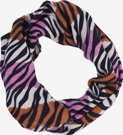 s.Oliver Schal in orange / pink / schwarz / weiß, Produktansicht