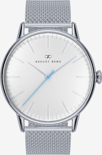 August Berg Uhr 'Serenity Sky Blue Silver Silver 40mm' in silber / weiß, Produktansicht
