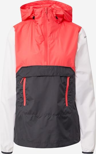 ICEPEAK Ulkoilutakki 'BRANTLEY' värissä harmaa / lohi / valkoinen, Tuotenäkymä