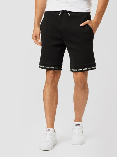 fekete / fehér BOSS ATHLEISURE Nadrág 'Headlo 1', Modell nézet