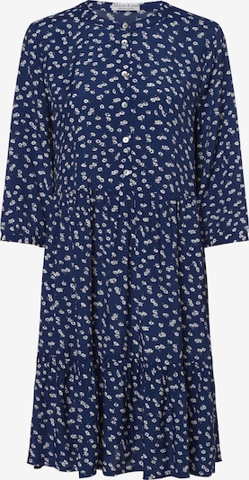 Marie Lund Kleid in dunkelblau / weiß, Produktansicht