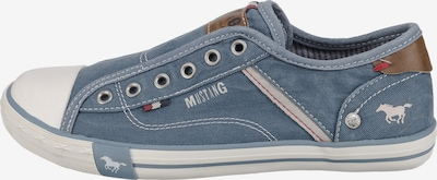 MUSTANG Slipper in blau / weiß, Produktansicht