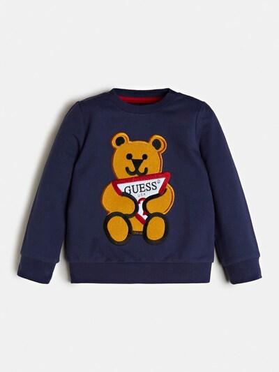 GUESS KIDS Sweatshirt in nachtblau / honig / rot, Produktansicht