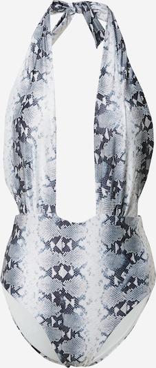 Hunkemöller Badeanzug in grau / schwarz / weiß, Produktansicht
