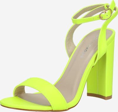 GLAMOROUS Sandale in neongrün, Produktansicht