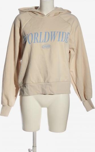 Gina Tricot Kapuzensweatshirt in M in creme / blau, Produktansicht