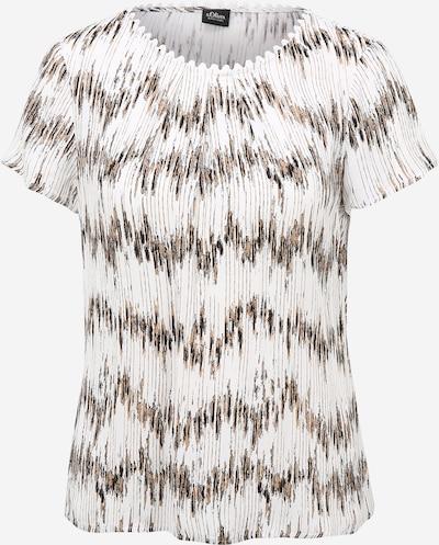 s.Oliver BLACK LABEL Bluse in creme / braun / schwarz, Produktansicht