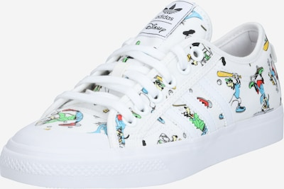 ADIDAS ORIGINALS Sneakers low 'Nizza x Disney Sport Goofy' in blue / yellow / light green / mixed colours / white, Item view