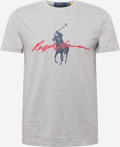 Polo Ralph Lauren Shirt in Navy / mottled grey / Fire red, Item view