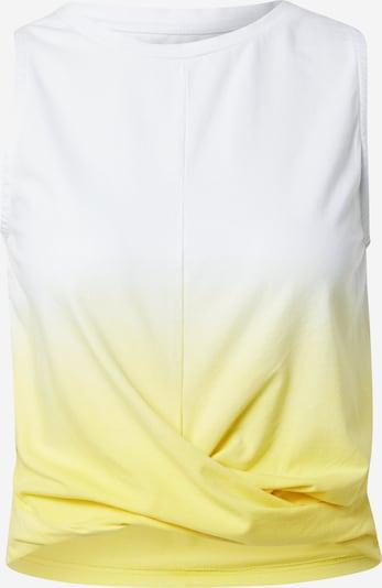 Hey Honey Top deportivo en amarillo / offwhite, Vista del producto