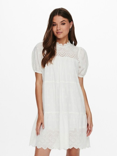 Rochie 'BOWIE' ONLY pe alb, Vizualizare model